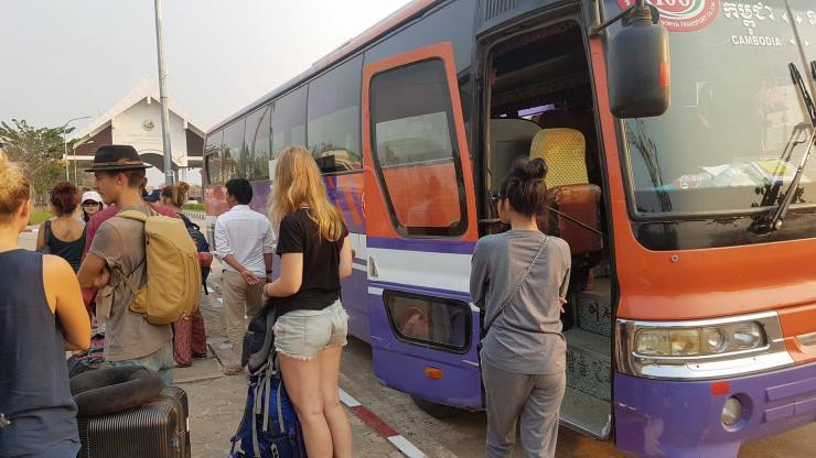 Arriving Laos by bus